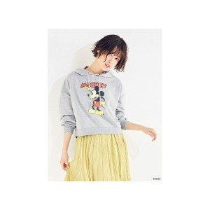 【SALE 28%OFF】CECIL McBEE ショートパーカー/Disney collection(グレー)【返品不可商品】