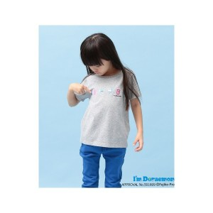 【SALE 50%OFF】ROPE' PICNIC KIDS 【ROPE' PICNIC KIDS】【I'm Doraemon】 Tシャツ(グレー(07))【返品不可商品】