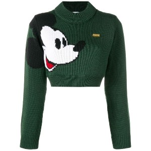 Gcds Mickey Mouse knit jumper - グリーン