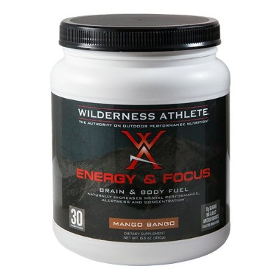 Wilderness Athlete Energy and Focus Tub, Mango Bango, 15.9 Ounce by Wilderness Athlete
