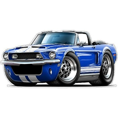 Ford Mustang Garage Decor 1968 Shelby GT500 Convertible Large 22 x48 (4ft Long) Wall Graphic Decal...