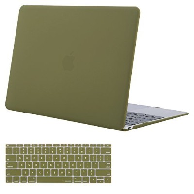 Mosisoプラスチックハードシェルケースとキーボードカバーfor MacBook 12inch with Retina Display グリーン MO-2IN1-12MBR-CO