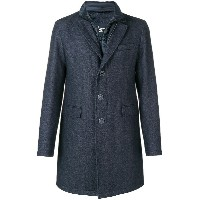 Herno front zipped overall coat - ブルー