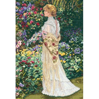 """(In Her Garden) - Dimensions Gold Collection """"In Her Garden"""" Counted Cross Stitch Kit, 27.9cm x 40..."""