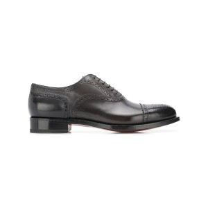 Santoni classic oxford shoes - ブラック
