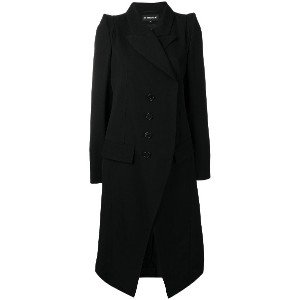 Ann Demeulemeester double-breasted fitted coat - ブラック