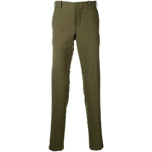 Incotex slim-fit tailored trousers - グリーン
