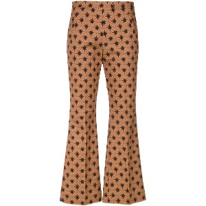 Andrea Marques wind rose wide leg cropped trousers - Est Rosa Dos