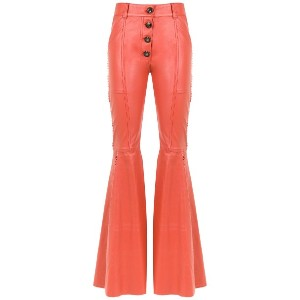 Andrea Bogosian panelled leather trousers - イエロー