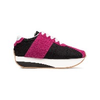 Marni Platform suede and mesh sneakers - ブラック