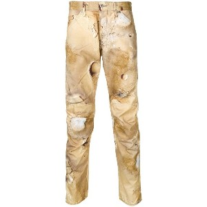 G-Star Raw Research abstract print trousers - ブラウン