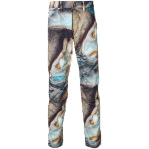 G-Star Raw Research abstract print trousers - ブルー