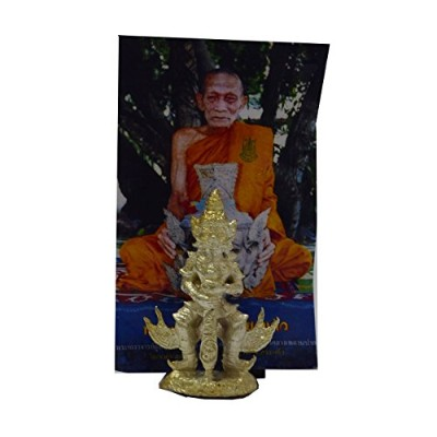 BuddhistジュエリータイAmulet牽引Wessuwan Giant Kuvera Rasun sedthee Strong and Lucky For Life Magic LP...