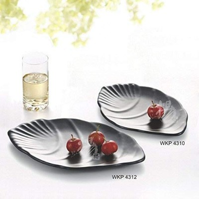 (WKP4310(25cm)) - 1 Pc Kinglang 25cm - 30cm Melamine Plastic Black Fish Shape Plate