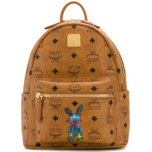 MCM all-over logo backpack - ブラウン