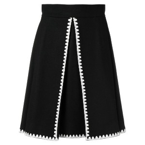 Red Valentino embroidered a-line skirt - ブラック