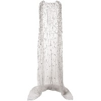 Marchesa sheer train sleeve gown and cape - グレー
