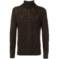 Tagliatore knitted roll neck sweater - ブラウン