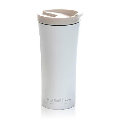 Asobu v700 White Manhattan Insulated Stainless Steel Coffee Mug, Large, White by asobu