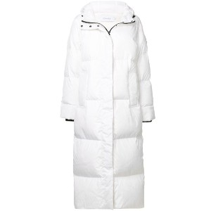Calvin Klein zipped padded coat - ホワイト