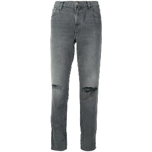 J Brand ripped straight jeans - グレー