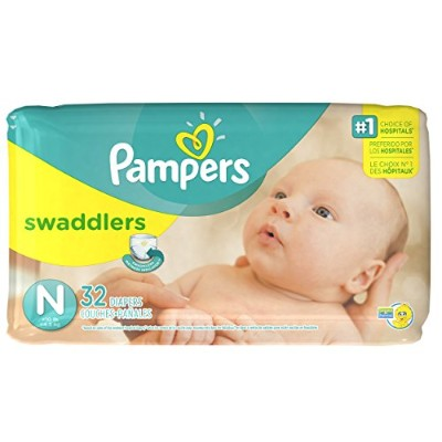 Pampers Swaddlers Diapers Jumbo Pack - 32 ct., Size newborn by Procter And Gamble