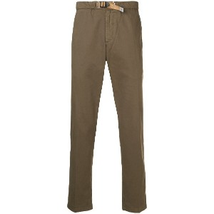 White Sand slim-fit trousers - グリーン