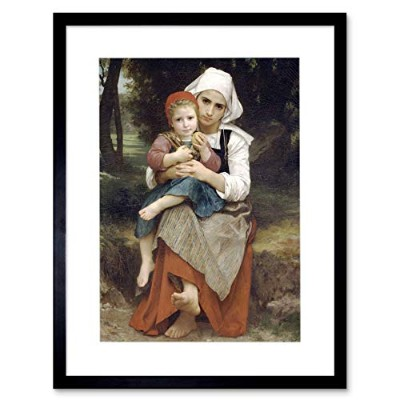 Painting Bouguereau Breton Brother Sister Framed Wall Art Print