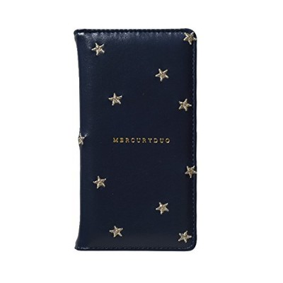 【iPhoneXS/X対応 手帳型ケース】MERCURYDUO(マーキュリーデュオ)×Gizmobies/STAR EMBROIDERY NAVY [AB-0820-IP0X-A]
