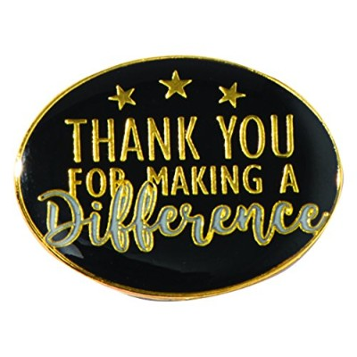 Thank You For Making A Difference Oval Appreciation Awardラペルピン