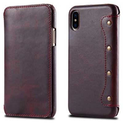 For iPhone X iPhone Xs Case, [Extra Card Slot] Happon [Wallet Case] PU Leather TPU Casing 専用ケース ...