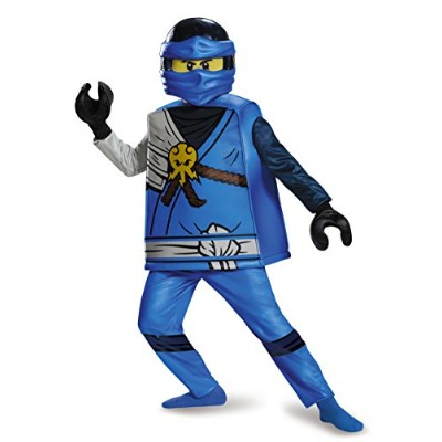 Disguise Jay Deluxe Ninjago レゴ コスチューム, ラージ/10-12 (海外取寄せ品)