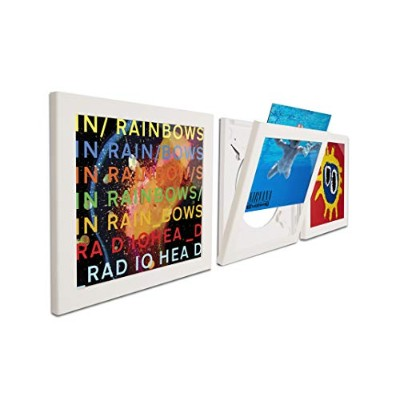 Art Vinyl Play and Display Record Frame, 3-Pack, White by Art Vinyl