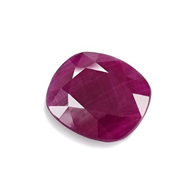 6.58CTS Natural Indian Ruby 12.1X 10.3X 5mmファセットクッションLoose宝石–rured-1213