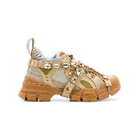 Gucci crystal embellished sneakers - ニュートラル