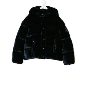 Moncler Kids hooded padded jacket - ブルー
