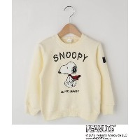 【3can4on(Kids)(サンカンシオン(キッズ))】 裏毛 SNOOPYスウェット OUTLET > トップス > スウェット・トレーナー ホワイト