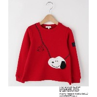 【3can4on(Kids)(サンカンシオン(キッズ))】 SNOOPYポシェットトレーナー OUTLET > トップス > スウェット・トレーナー レッド