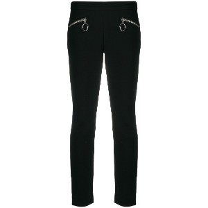Moschino zipped slim-fit trousers - ブラック