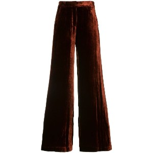A.L.C. crushed velvet trousers - レッド