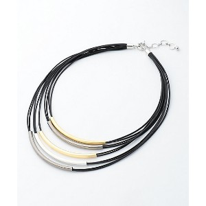 【SALE(三越)】 JANE MORE/ジェーンモア  5連パイプネックレス(AS2SYW0030) クロ 【三越・伊勢丹/公式】 アクセサリー~~ネックレス・ペンダント~~レディース ネックレス...