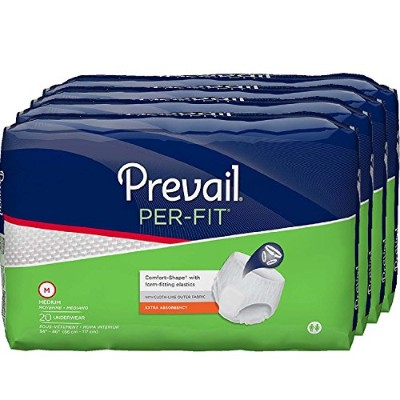 Prevail Per-Fit Protective Underwear, Medium, 20-Count by Prevail