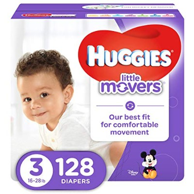 Huggies Little Movers Diapers, Size 3, 128 Count (Packaging May Vary) by Huggies