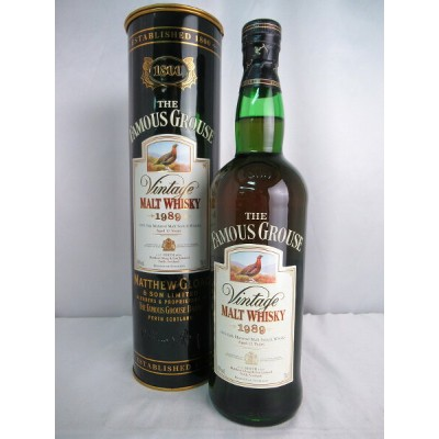 THE FAMOUS GROUSE Aged 12 Years vintage 1989 MALT WHISKY ザ フェイマス グラウス 12年 ヴィンテージ 1989 モルト ウィスキー...