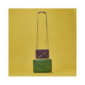 AGACIC GREEN+PURPLE twin Shoulder bag○AG0201100 Green + purple カバン・バッグ