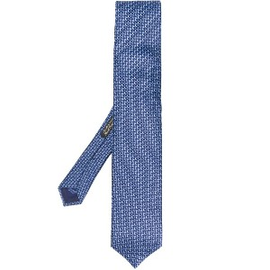Corneliani geometric pattern tie - ブルー