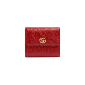 Gucci GG Marmont leather wallet - レッド