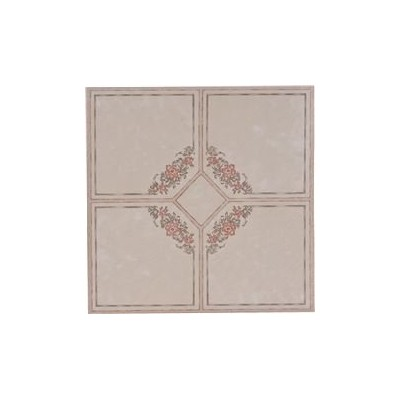 National Brand Alternative 842141 Floor Tile No Wax Self Stick, Floral Rose & Gray - 12 x 12 in.