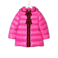 Gucci Kids bow-tie detail down jacket - ピンク