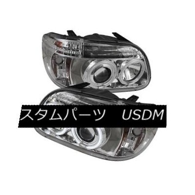 ヘッドライト Ford 95-01 Explorer CCFL Chrome Dual Halo LED Projector Headlight w/ Signal Lamp フォード95...